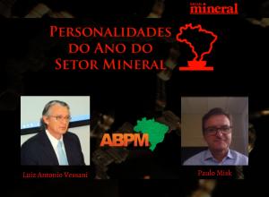 Diretor e conselheiro da ABPM são finalistas em prêmio do setor mineral